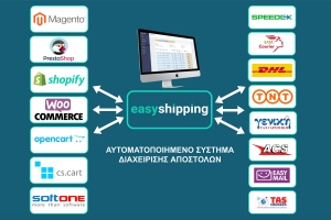 EasyShipping: One-Stop solution για τη διαχείριση των αποστολών του e-shop σας μέσω courier